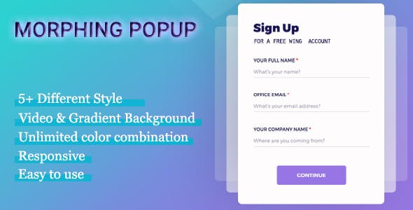 Visual Composer - Morphing Popup - CodeCanyon Item for Sale