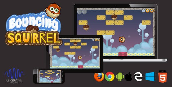 Bouncing Squirrel - HTML5 Game