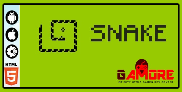Snake- HTML5 Game - Construct 2 & 3 CAPX ( Construct2 and Construct3 ) - CodeCanyon Item for Sale