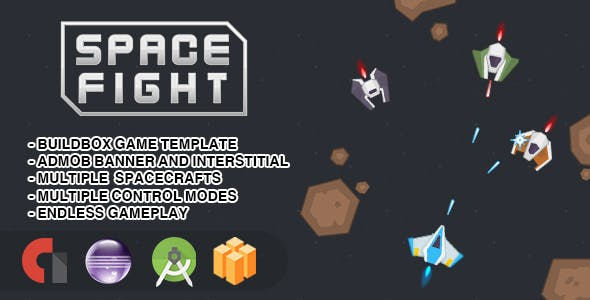Space Fight - Android Studio + Eclipse + Buildbox Template