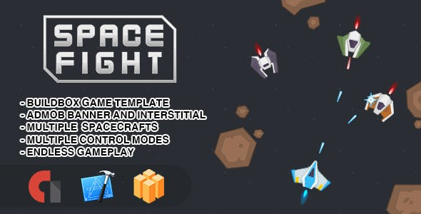 Space Fight - IOS XCODE Source + Buildbox Template