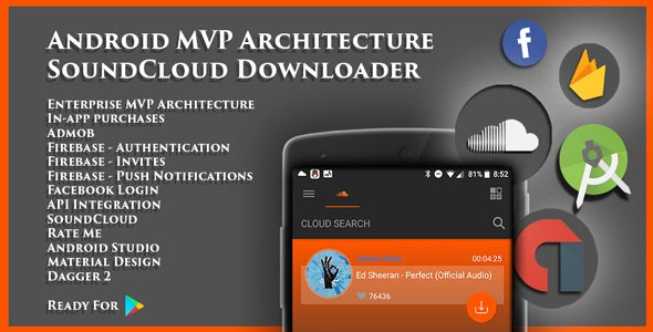 Android MVP Architecture SoundCloud Downloader - CodeCanyon Item for Sale