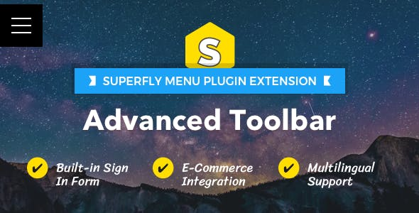 Advanced Toolbar — Superfly Menu Plugin Add-on