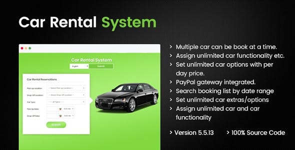 Car Rental Portal - Laravel PHP