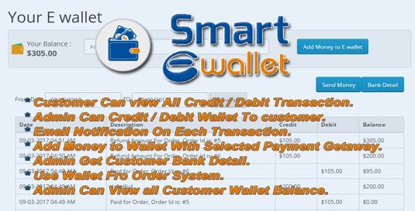 Smart E Wallet - Opencart Plugin