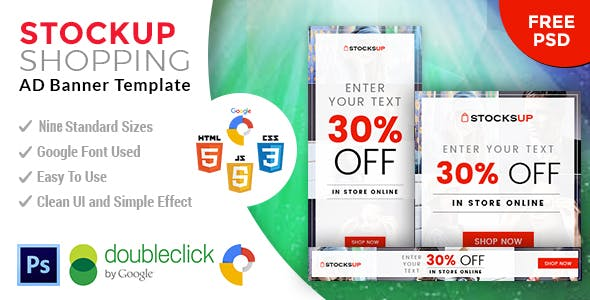 Stocksup | Shopping HTML 5 Animated Google Banner