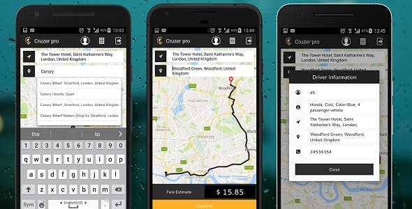 Android App Taxi Booking with Web Admin panel complete solution.