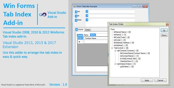 WinForms Tab Index Extension / AddIn - CodeCanyon Item for Sale