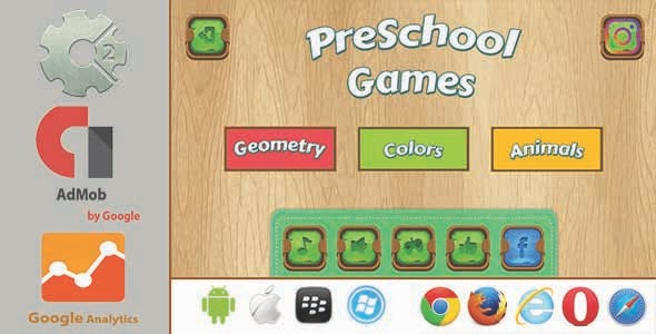 PreSchool Games - Construct2 HTML5 With Admob