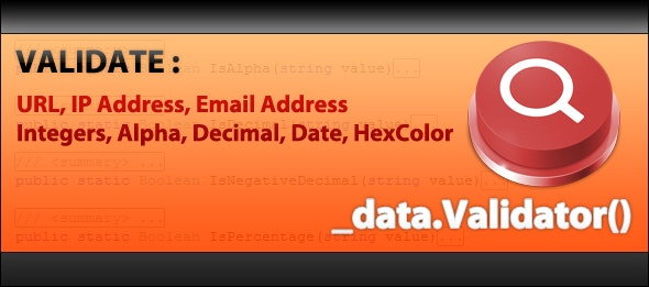 Data Validation for .NET - CodeCanyon Item for Sale