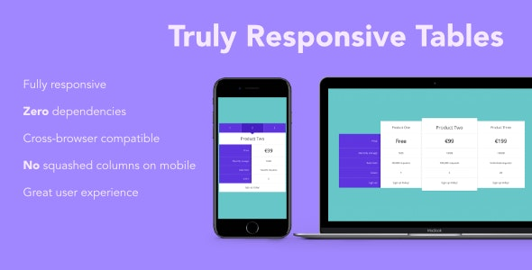 Truly Responsive Comparison Tables - CodeCanyon Item for Sale