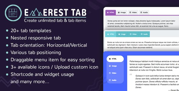 Everest Tab - Responsive Tab Plugin For WordPress