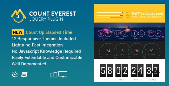Count Everest Countdown | Responsive jQuery Plugin        Nulled