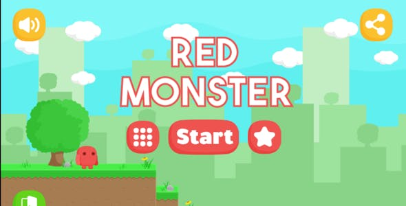Red Monster - Android Easy reskin (Android Studio + Admob Ads + PNG)
