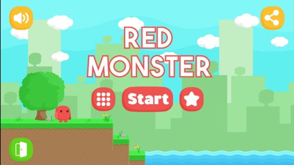 Red Monster - Android Easy reskin (Android Studio + Admob Ads + PNG) - CodeCanyon Item for Sale