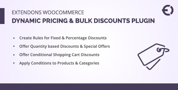 Extendons WooCommerce Dynamic Pricing Plugin & Bulk Discounts - CodeCanyon Item for Sale