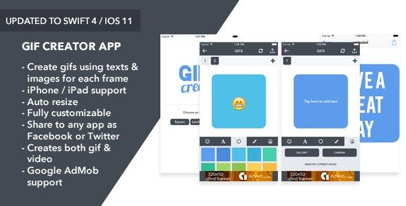 Gif Creator - iOS App - CodeCanyon Item for Sale