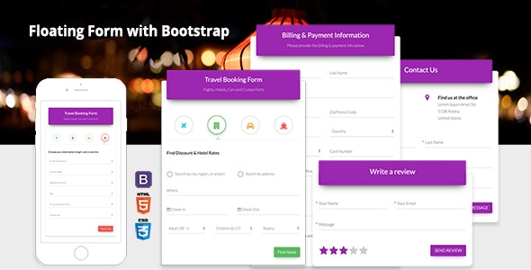 Floating Form with Bootstrap 4 by adamthemes | CodeCanyon
