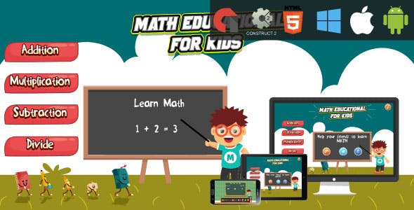 Math Education For Kids - HTML5 Educational Game (capx)