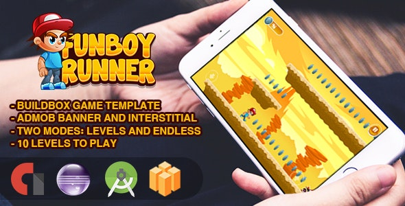 FunBoy Runner - Android Studio + Eclipse + Buildbox Template - CodeCanyon Item for Sale