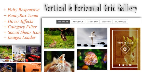 Responsive Grid Gallery - Horizontal and Vertical - CodeCanyon Item for Sale