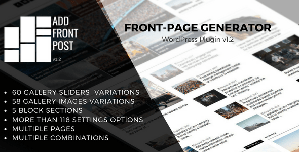 Add Front Post - WordPress Plugin Front-Page Generator - CodeCanyon Item for Sale