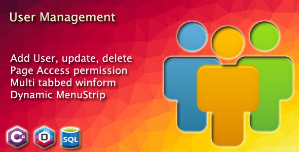 User management and Dynamic MenuStrip with Access privilege in winform - CodeCanyon Item for Sale