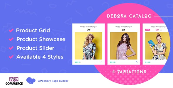 Debora - WooCommerce Product Showcase For WPBakery Page Builder