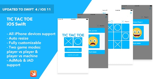 Tic Tac Toe iOS App - CodeCanyon Item for Sale