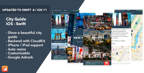 City Guide - iOS Swift App - CodeCanyon Item for Sale