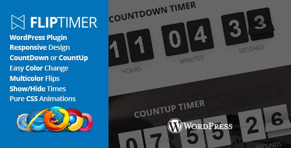 FlipTimer - jQuery Countdown Timer WordPress Plugin