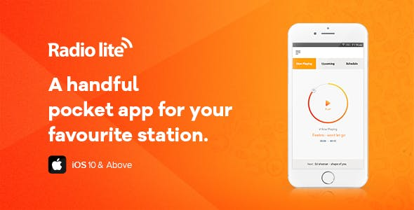 Radio Lite iOS - Single Radio Streaming App