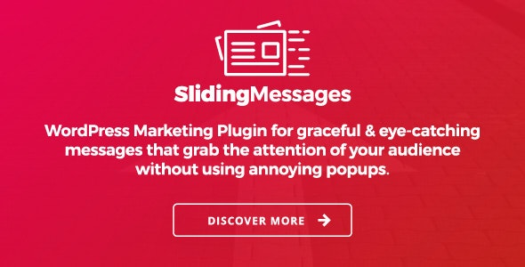 WordPress Marketing Plugin – Sliding Messages - CodeCanyon Item for Sale