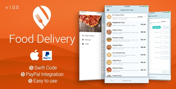 Food Delivery - iOS App - CodeCanyon Item for Sale