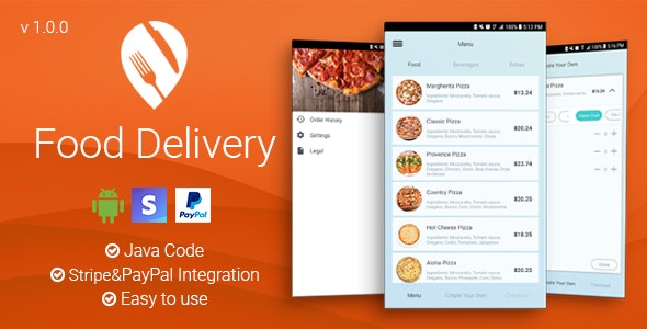 Food Delivery - Android App - CodeCanyon Item for Sale