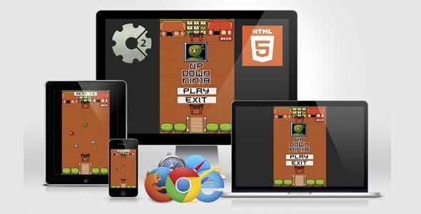 Up Down Ninja - HTML5 Game