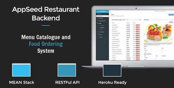 AppSeed Restaurant Backend Lite - Full MEAN Stack Application - CodeCanyon Item for Sale