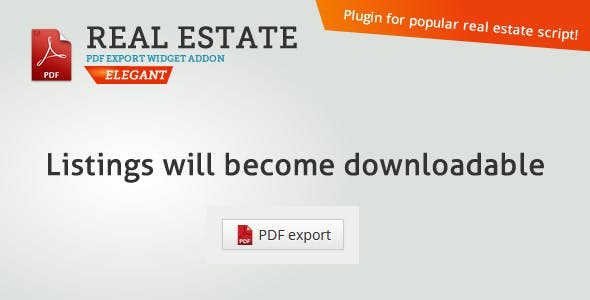 Real Estate PDF Export - CodeCanyon Item for Sale