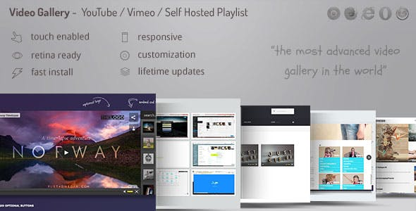 Video Gallery Wordpress Plugin /w YouTube, Vimeo, Facebook pages        Nulled
