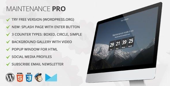 Maintenance PRO - WordPress plugin        Nulled