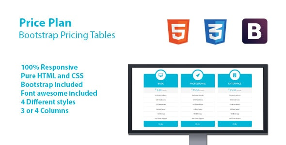 Price Plan - Bootstrap Pricing Tables - CodeCanyon Item for Sale