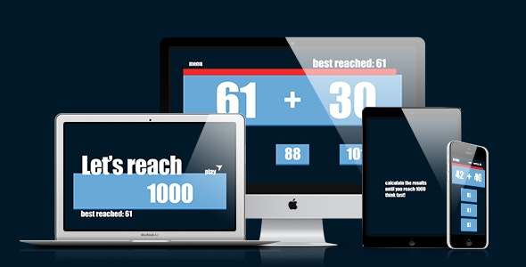 Math Game: Let's Reach 1000 - CodeCanyon Item for Sale