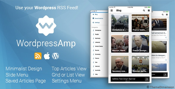 WordpressAmp - iOS News Application - CodeCanyon Item for Sale