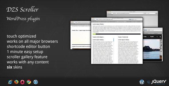 DZS Scroller - WordPress Scrollbar Plugin - CodeCanyon Item for Sale