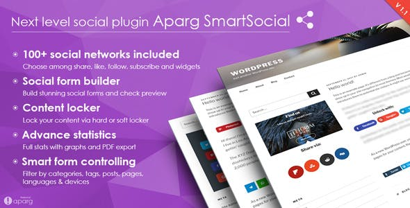 Aparg SmartSocial – WordPress Social Media Plugin