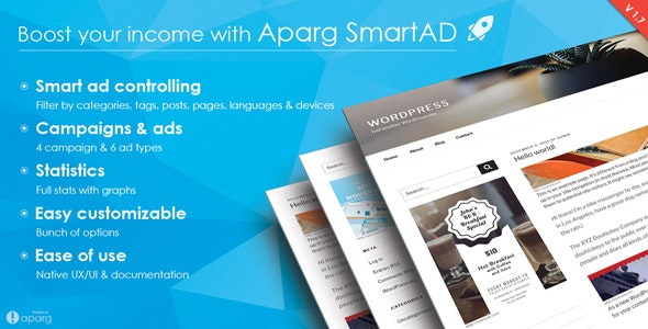 Aparg SmartAd - WordPress Ad Management Plugin - CodeCanyon Item for Sale
