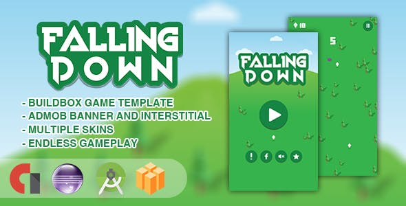 Falling Down - Android Studio + Eclipse + Buildbox Template