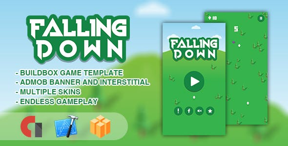 Falling Down - IOS XCODE Source + Buildbox Template