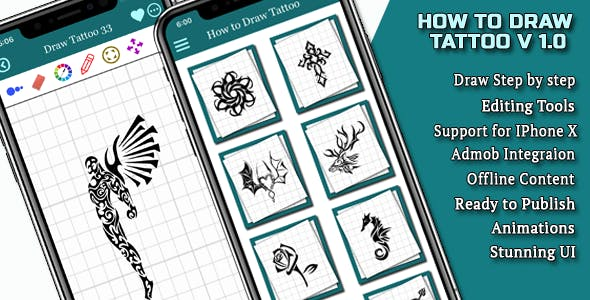 How to draw Tattoo IOS Full Application
