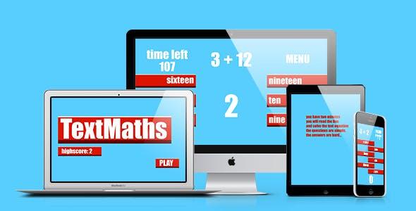 Math Game: Text Maths